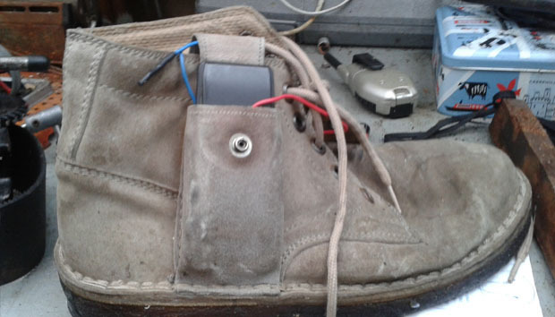 Trevor Baylis shoe phone charger